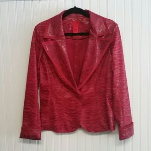 V Cristina Fire Engine Red Two Pattern Jacket